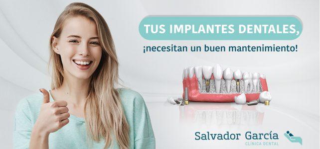 Mantenimiento de los implantes dentales, ¿qué hacer tras la cirugía dental?