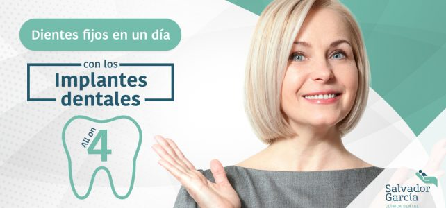 "Implantes dentales ""All on Four"": Dientes fijos en un día"