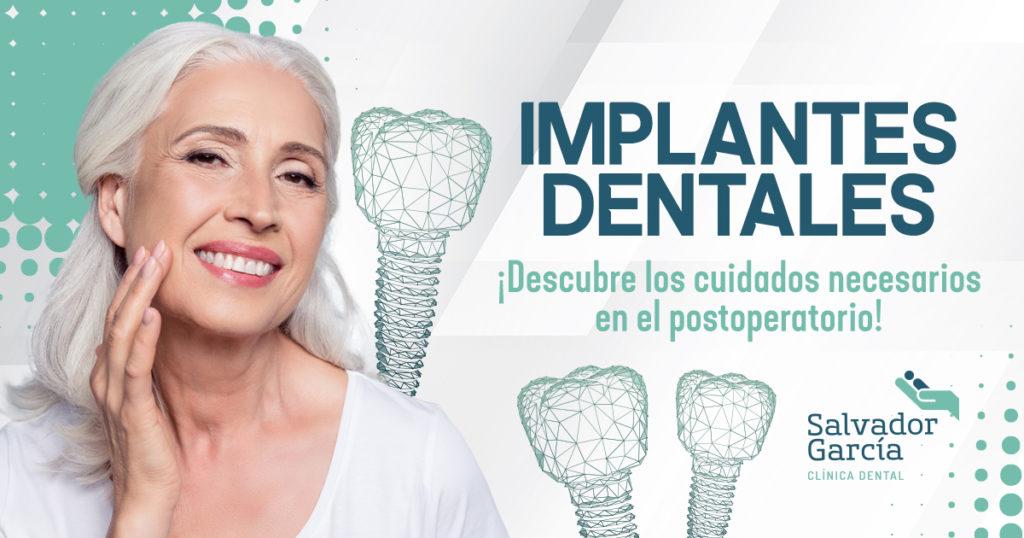 postoperatorio de implantes dentales